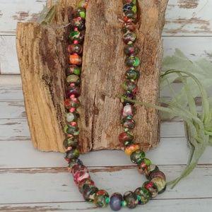 Jewelry - Multicolor Sea Sediment Jasper Bead Necklace